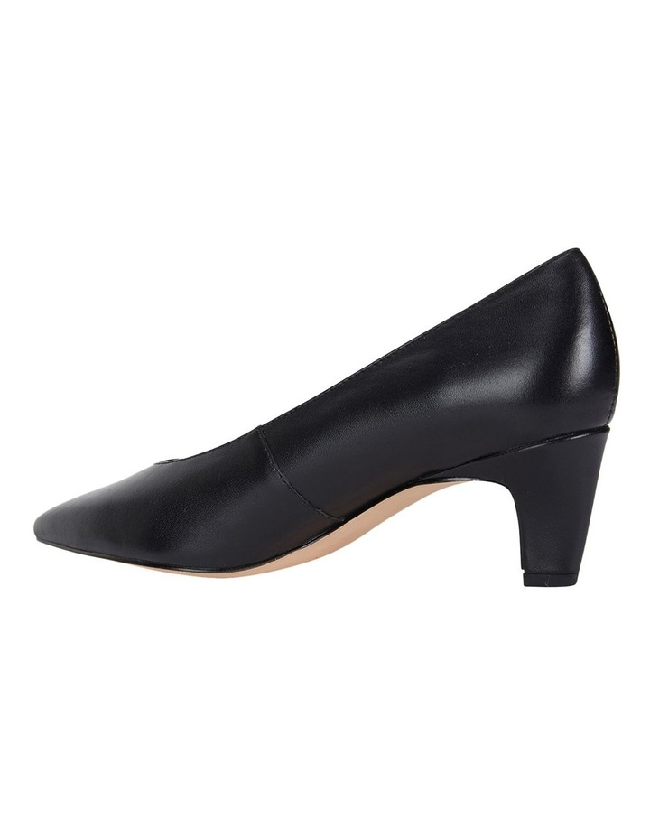 Seduce Black Glove Heeled Shoes image 7