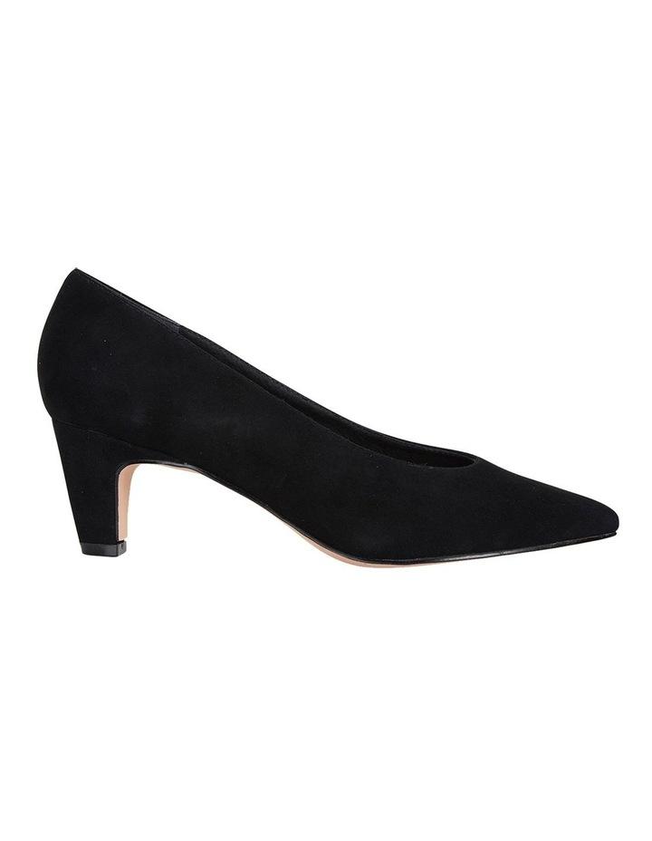 Seduce Black Suede Heeled Shoes image 1