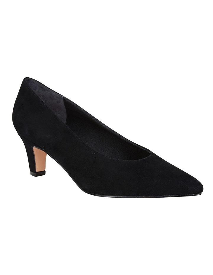 Seduce Black Suede Heeled Shoes image 2