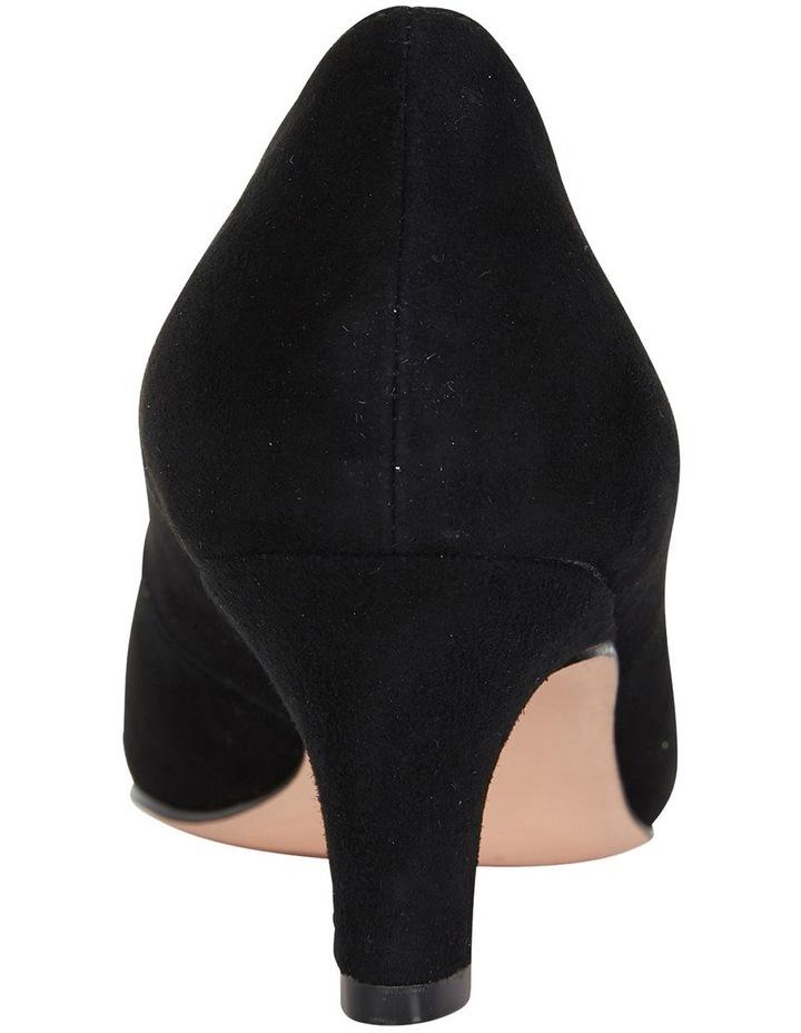 Seduce Black Suede Heeled Shoes image 5
