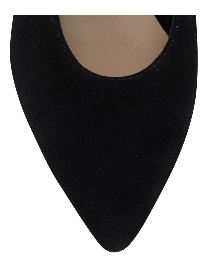 Seduce Black Suede Heeled Shoes image 6