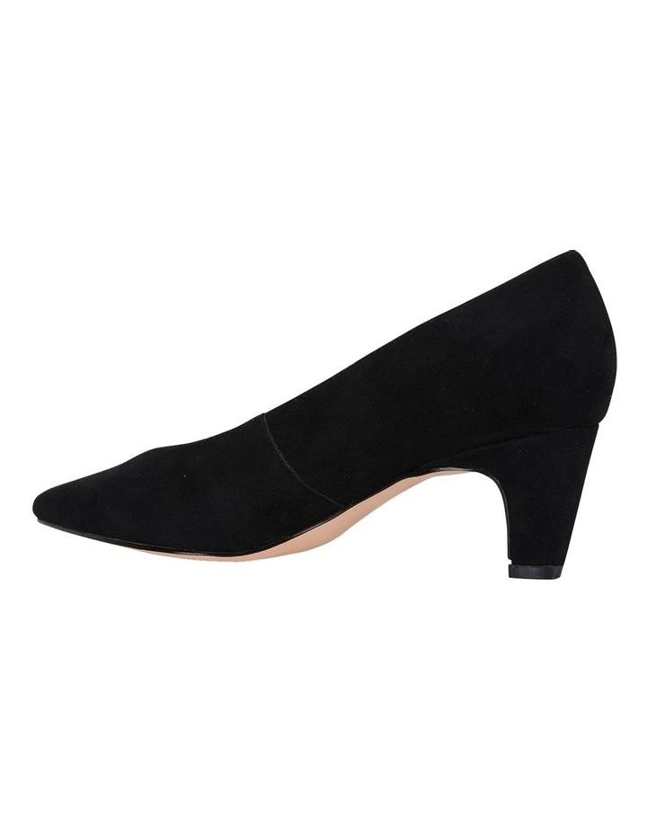 Seduce Black Suede Heeled Shoes image 7