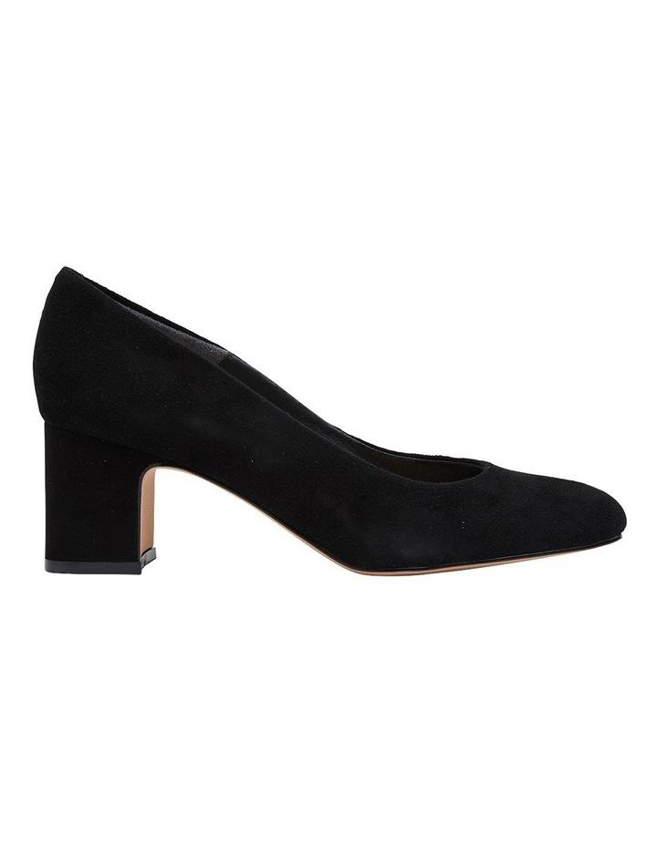 Joyce Black Suede Heeled Shoes image 1
