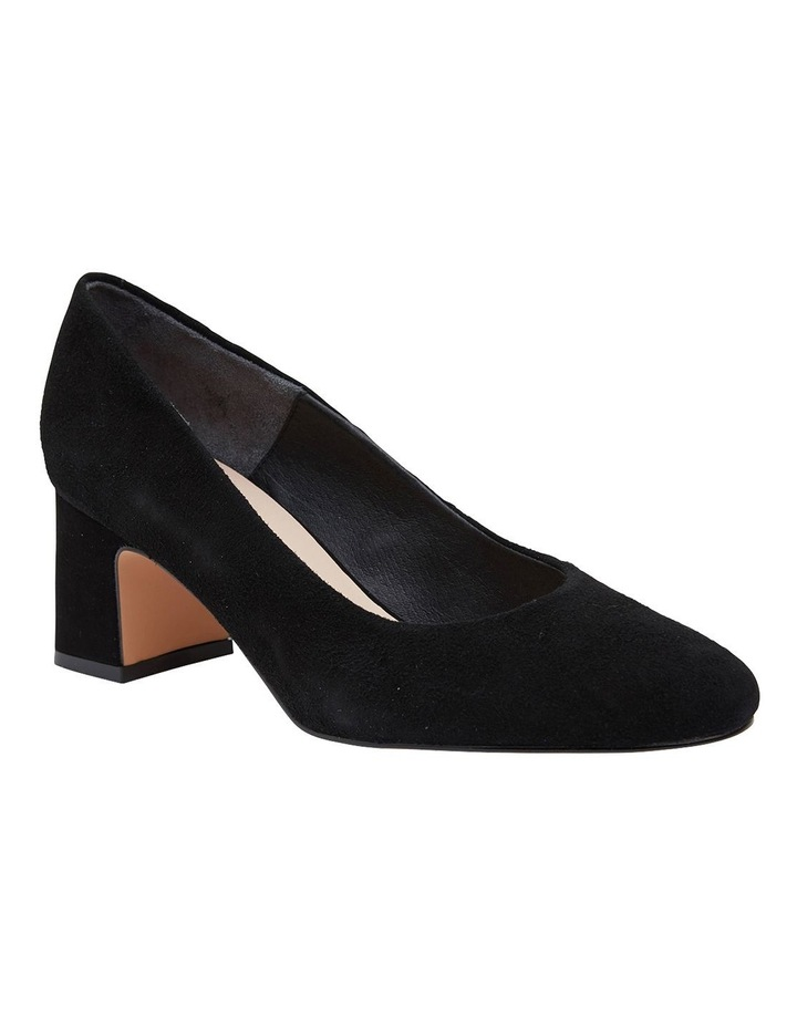 Joyce Black Suede Heeled Shoes image 2