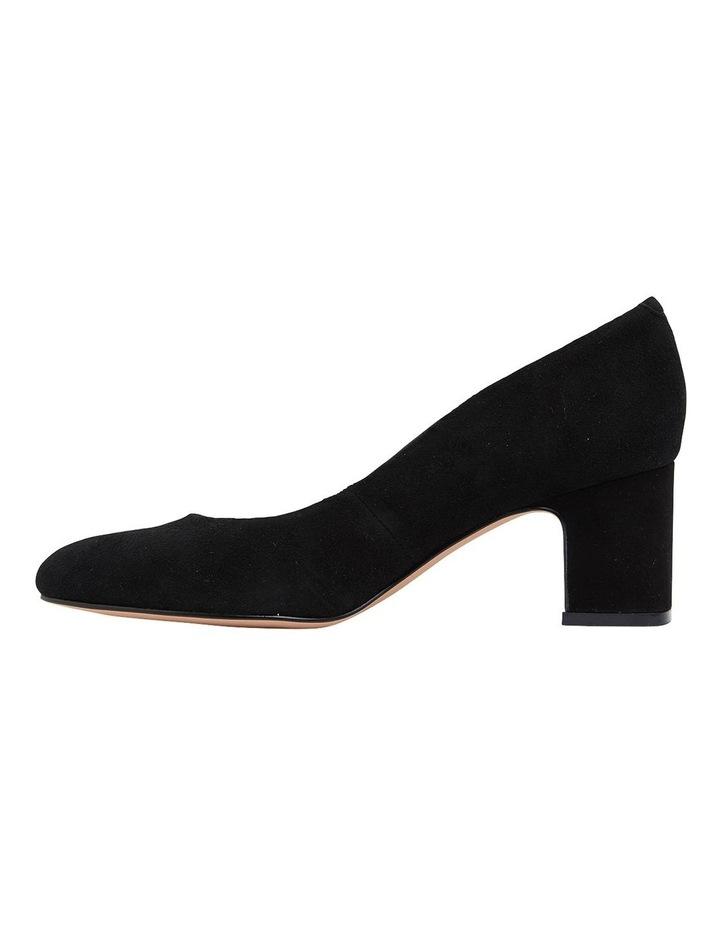 Joyce Black Suede Heeled Shoes image 3