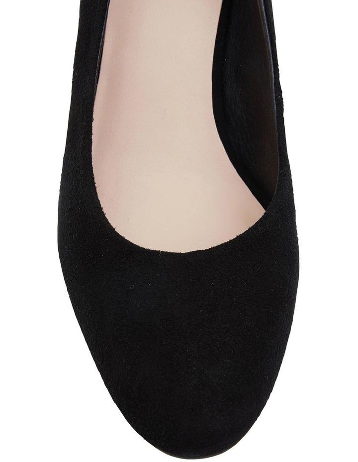 Joyce Black Suede Heeled Shoes image 6