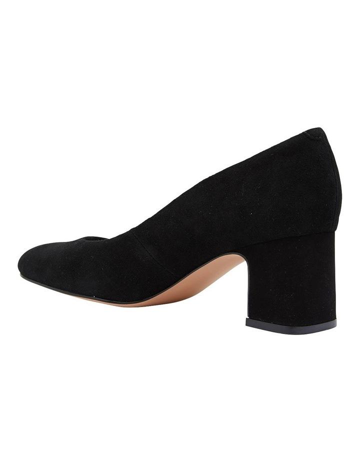 Joyce Black Suede Heeled Shoes image 7