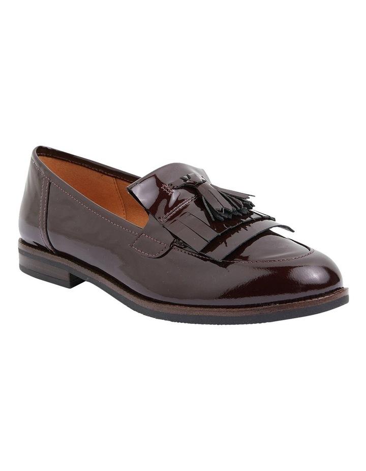 Wade Burgundy Patent Flat Shoes image 2