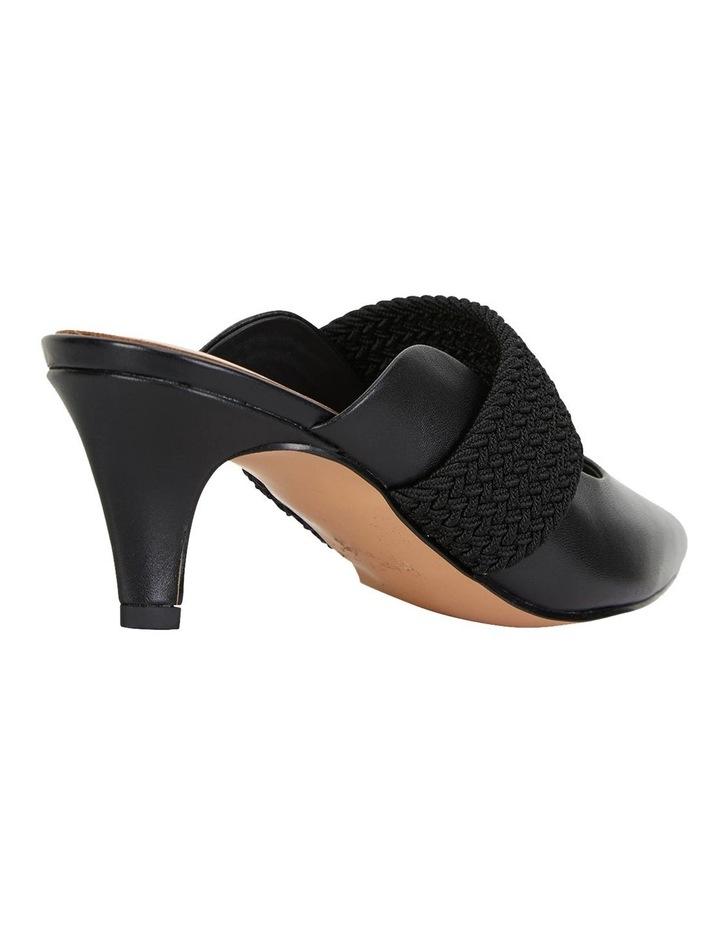 Symbol Black Glove Heeled Shoes image 4