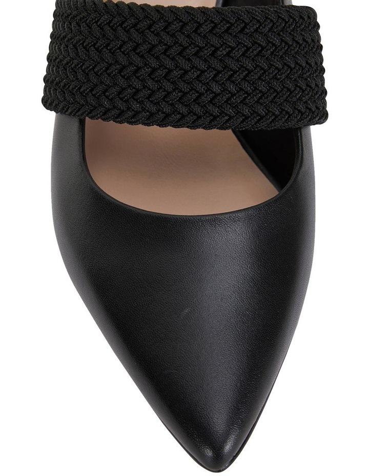 Symbol Black Glove Heeled Shoes image 6