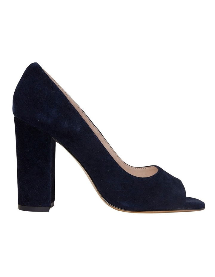 Finn Navy Suede Heeled Shoes image 1