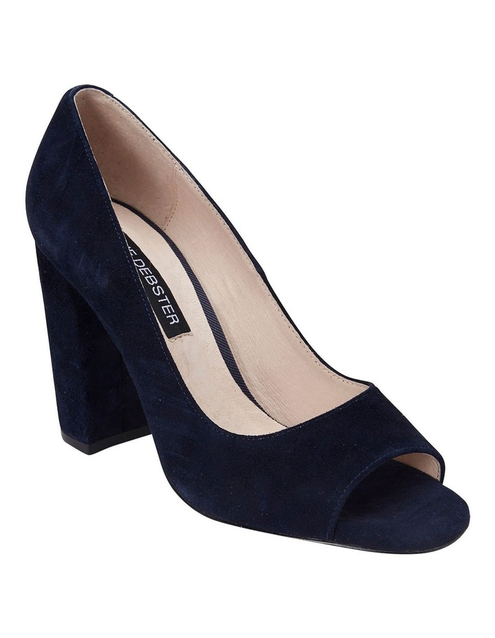 Finn Navy Suede Heeled Shoes image 2