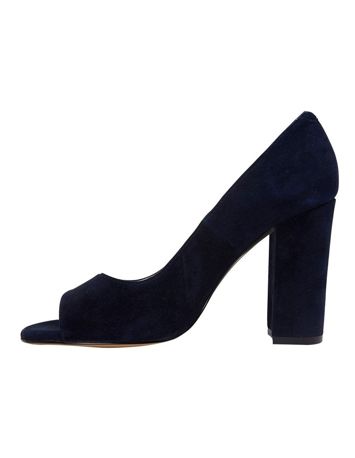 Finn Navy Suede Heeled Shoes image 3