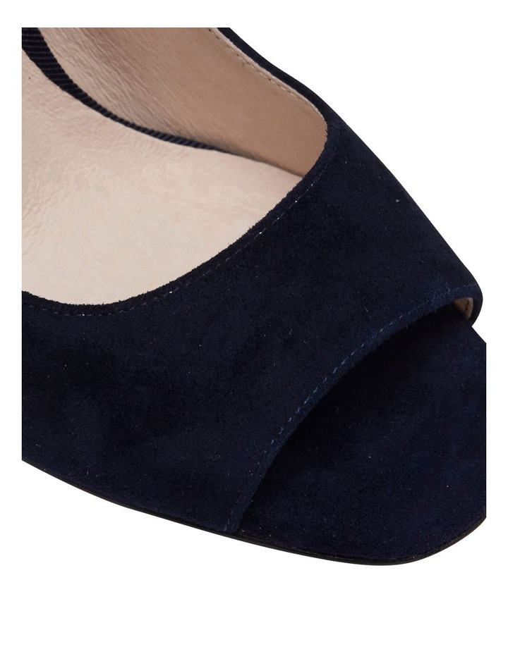 Finn Navy Suede Heeled Shoes image 6