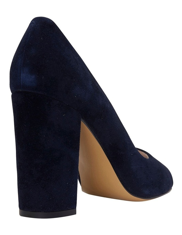 Finn Navy Suede Heeled Shoes image 7