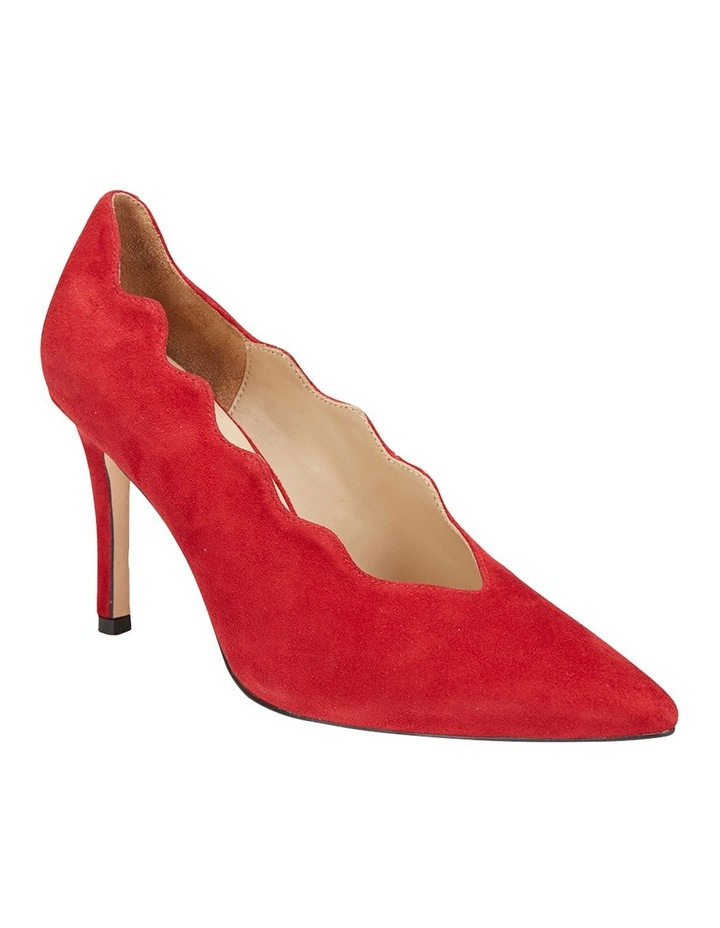Della Red Suede Heeled Shoes image 2