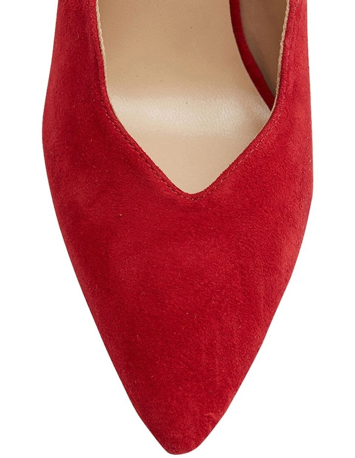 Della Red Suede Heeled Shoes image 6