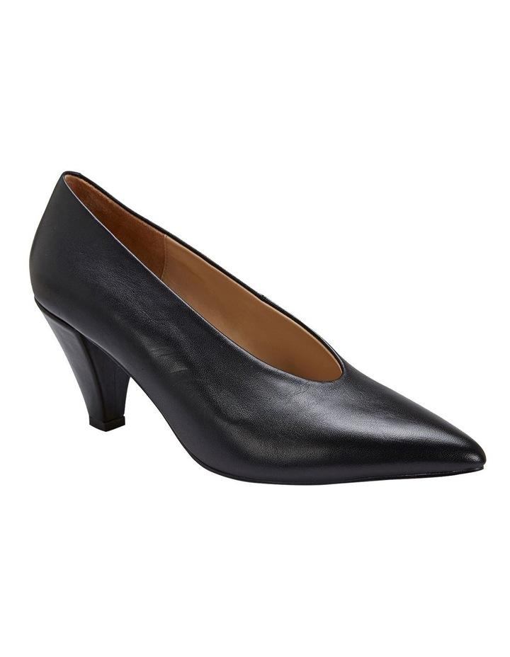 Nancy Black Glove Heeled Shoes image 2