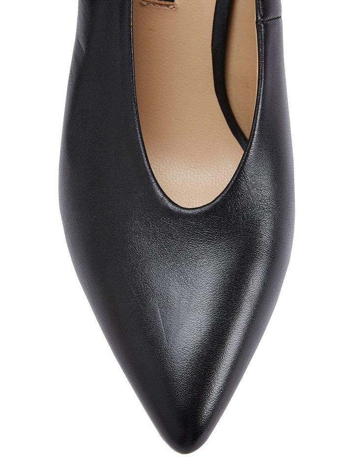 Nancy Black Glove Heeled Shoes image 6