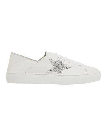 White/Silver Glitter colour