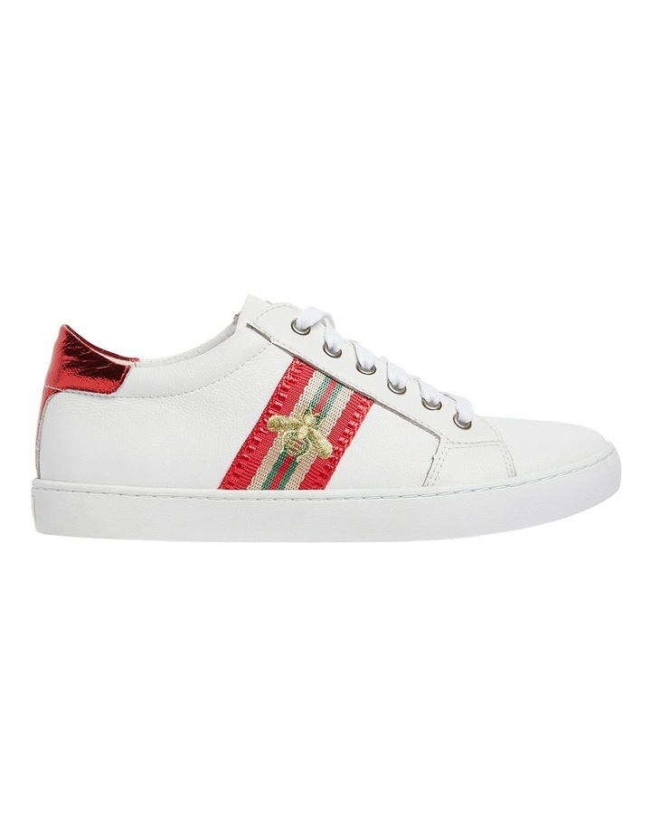 Belem White/Red Nappa Sneakers image 1
