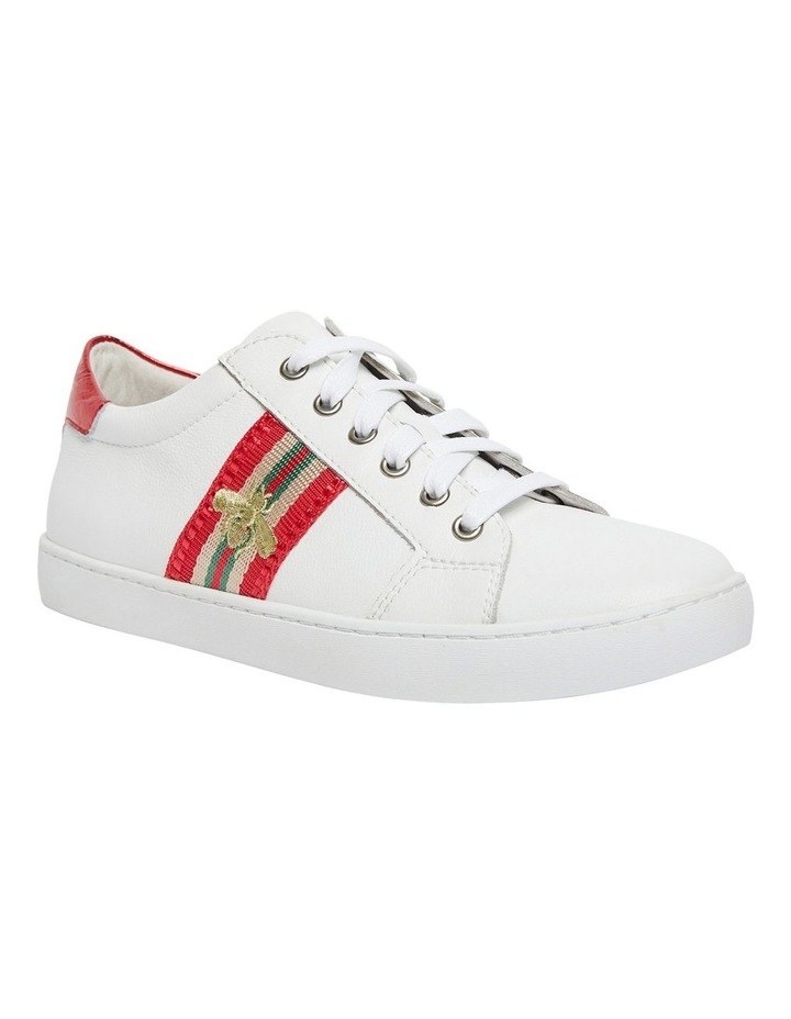 Belem White/Red Nappa Sneakers image 2