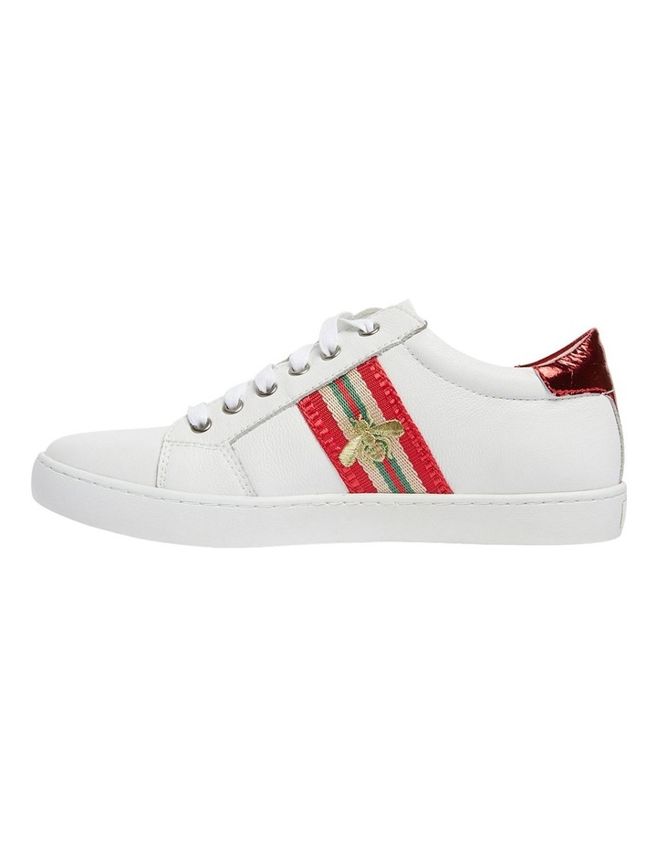 Belem White/Red Nappa Sneakers image 3