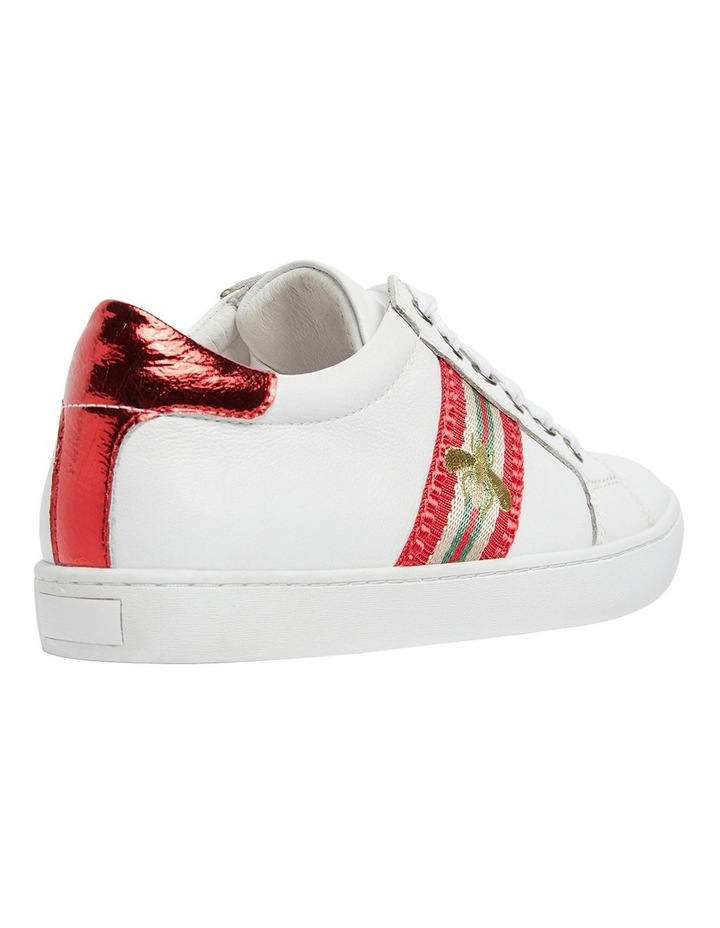 Belem White/Red Nappa Sneakers image 4
