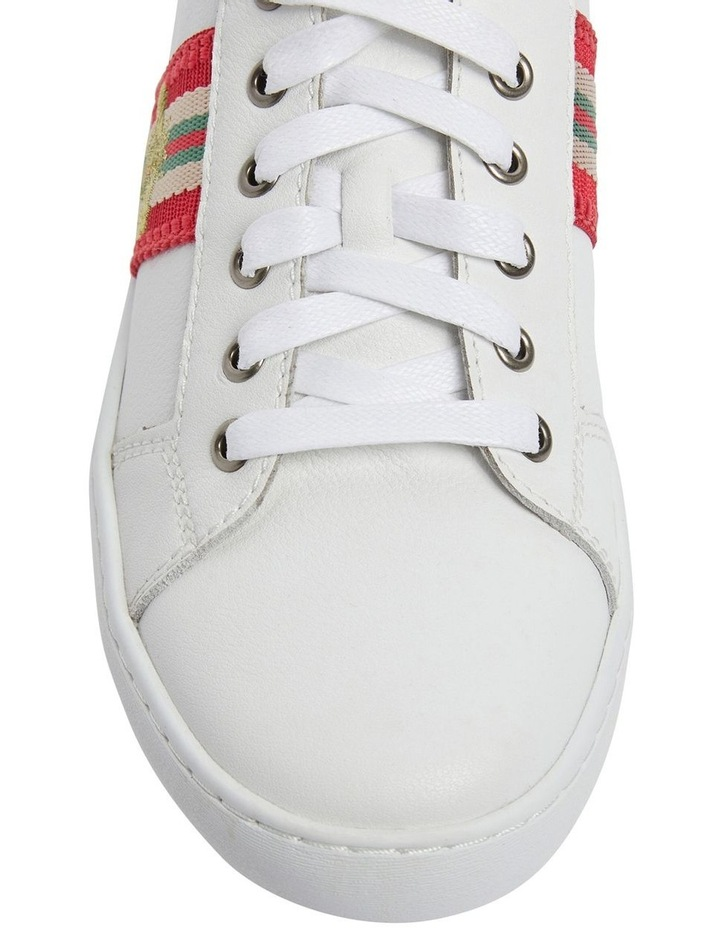 Belem White/Red Nappa Sneakers image 6