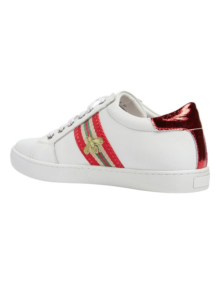 Belem White/Red Nappa Sneakers image 7