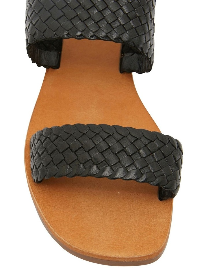 Tora Black Weave Sandals image 5