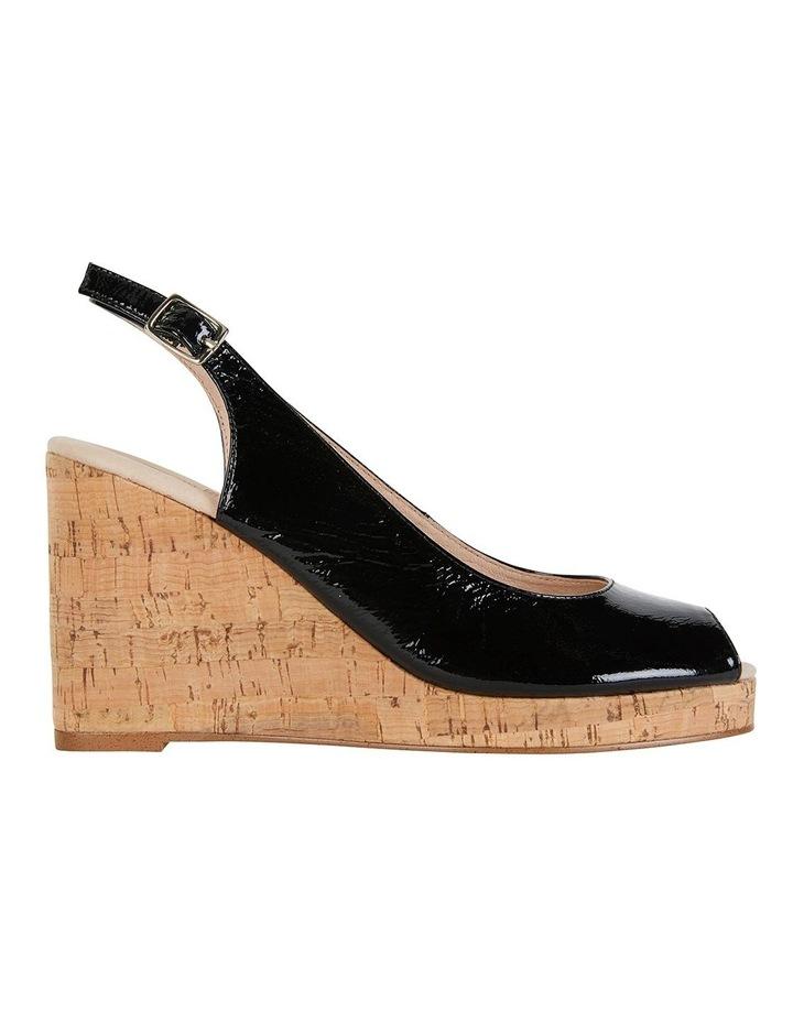 Davina Black Crinkle Patent Sandals image 1