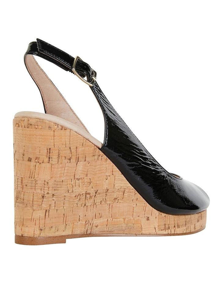 Davina Black Crinkle Patent Sandals image 2