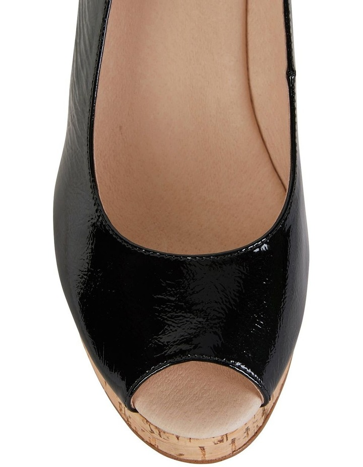 Davina Black Crinkle Patent Sandals image 4