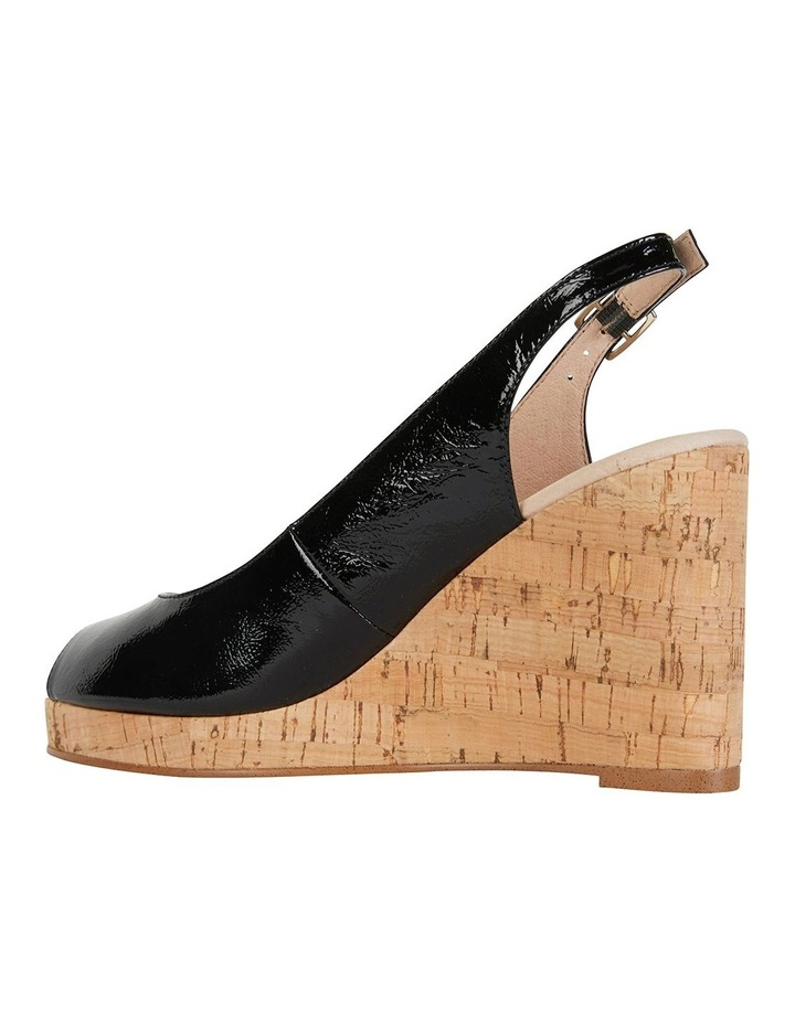 Davina Black Crinkle Patent Sandals image 5