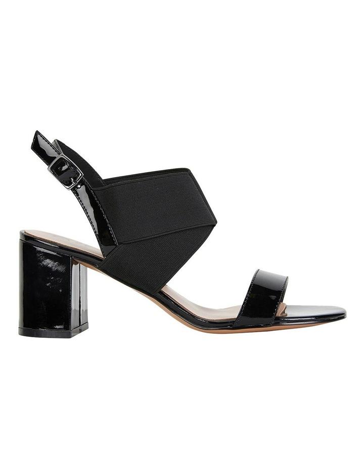 Petal Black Patent /Elastic Sandals image 1