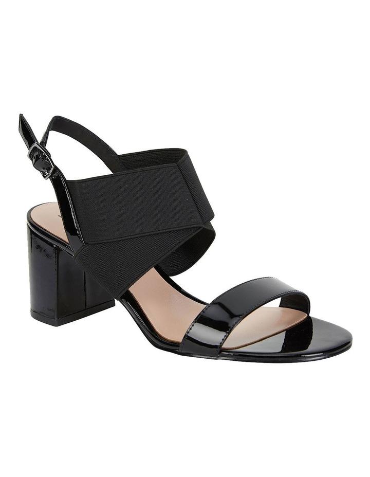Petal Black Patent /Elastic Sandals image 2