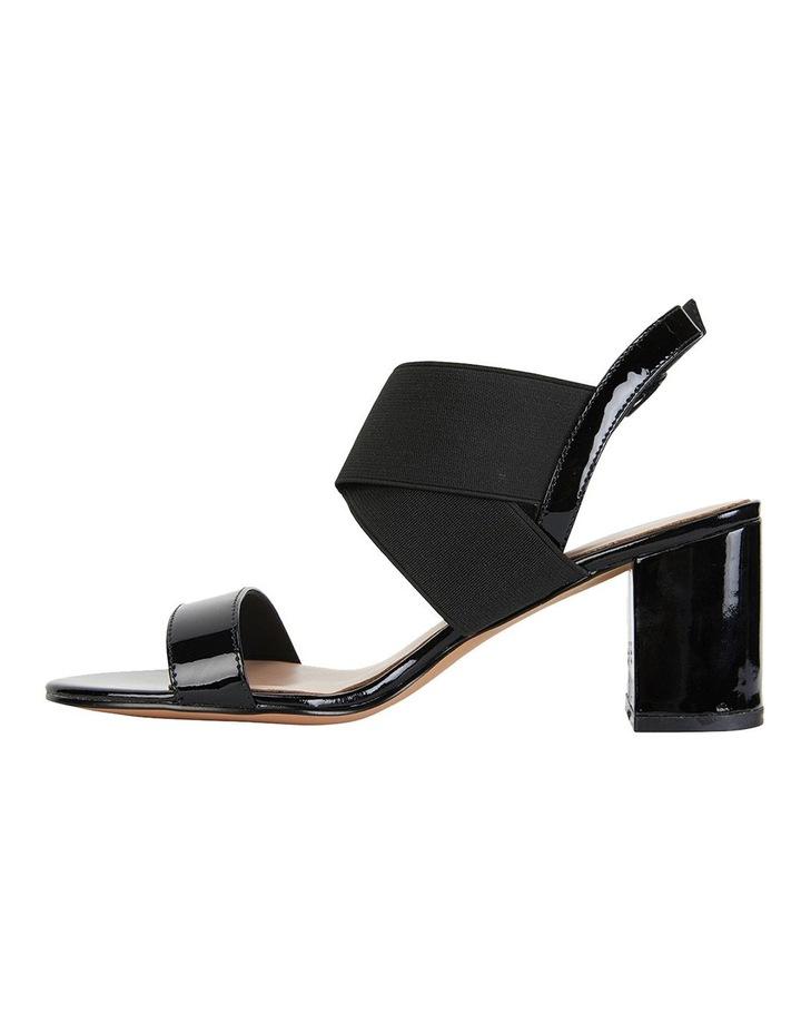 Petal Black Patent /Elastic Sandals image 3