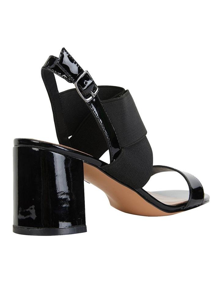 Petal Black Patent /Elastic Sandals image 4