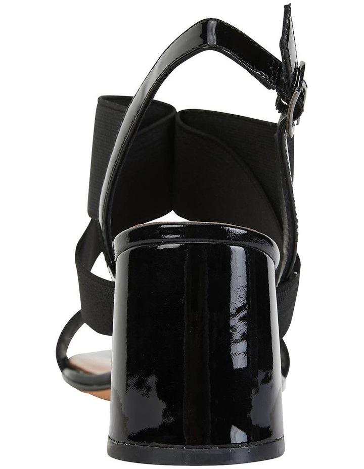 Petal Black Patent /Elastic Sandals image 5