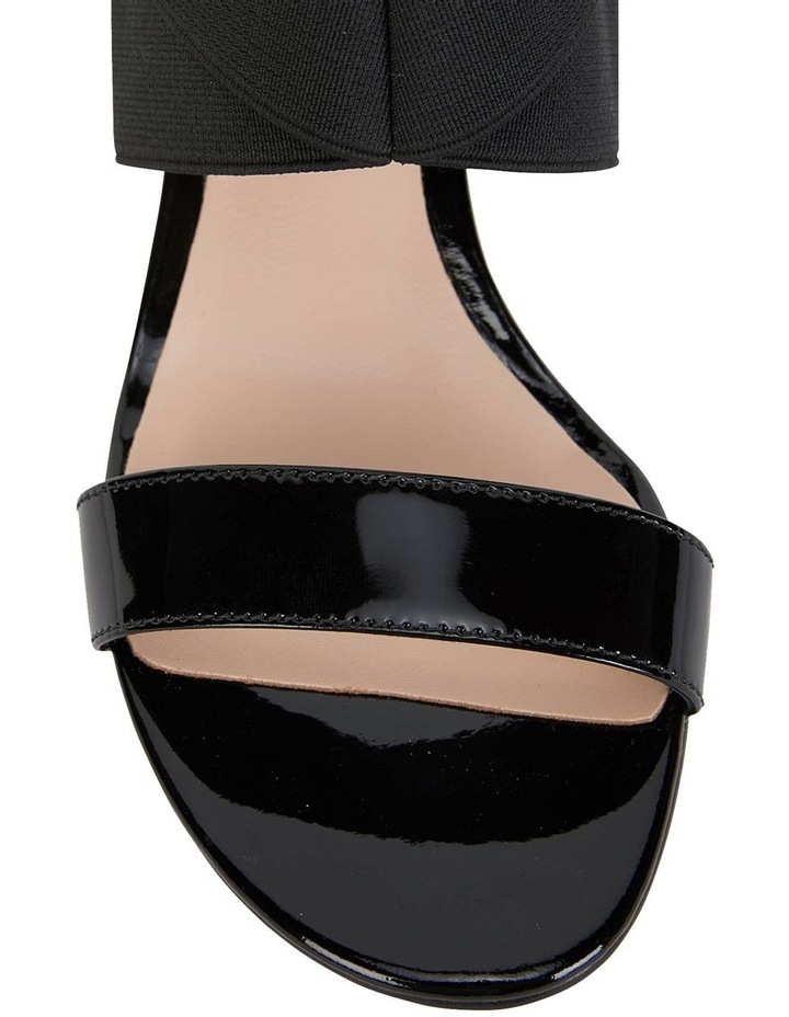 Petal Black Patent /Elastic Sandals image 6