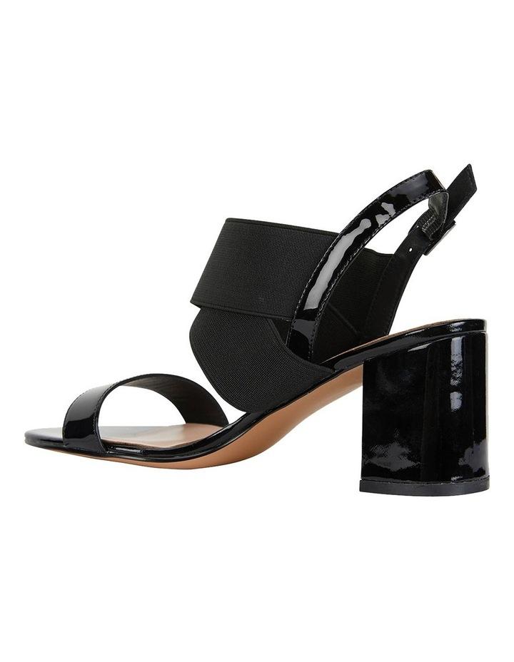 Petal Black Patent /Elastic Sandals image 7
