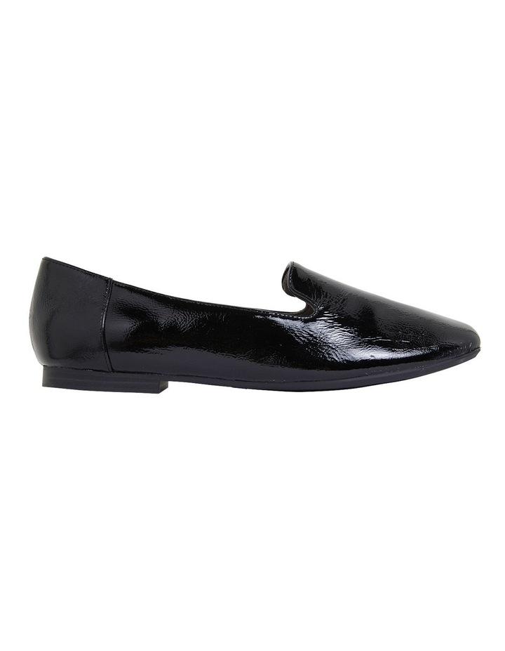 Hugo Black Crinkle Patent Flat Shoes image 1