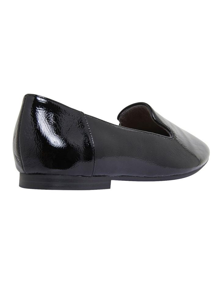 Hugo Black Crinkle Patent Flat Shoes image 4