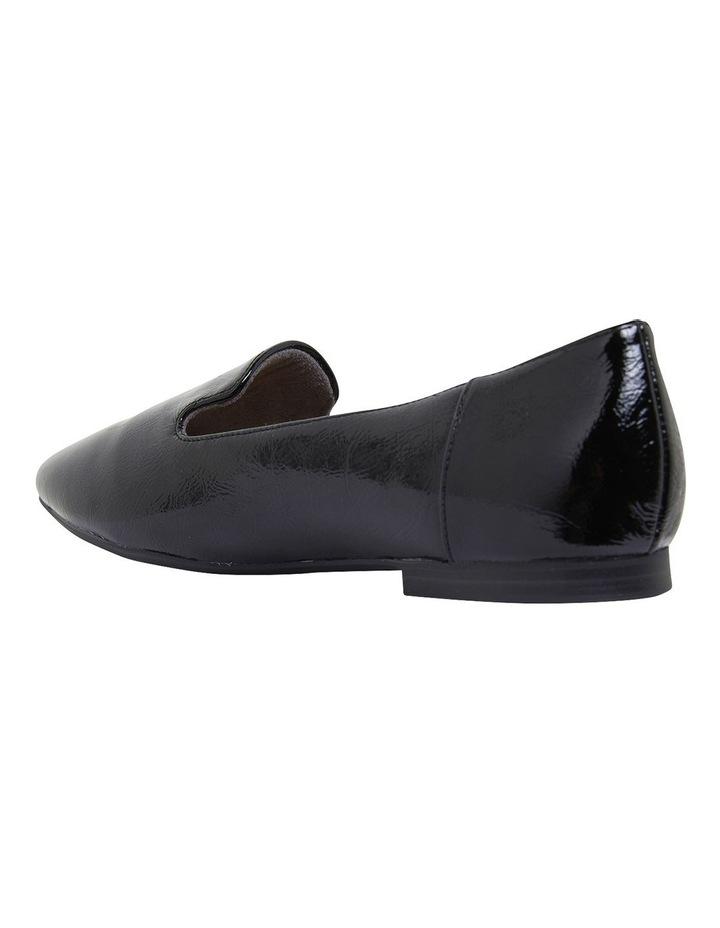 Hugo Black Crinkle Patent Flat Shoes image 5
