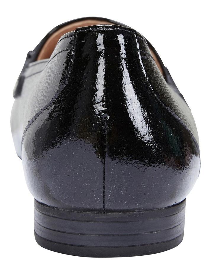 Glebe Black Crinkle Patent Flat Shoes image 5
