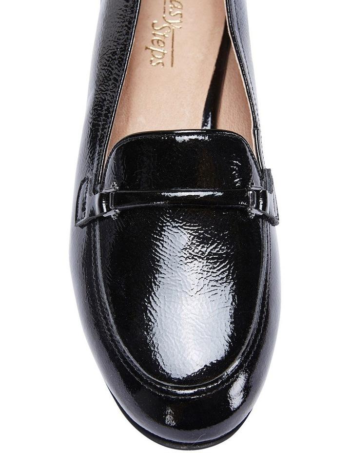 Glebe Black Crinkle Patent Flat Shoes image 7