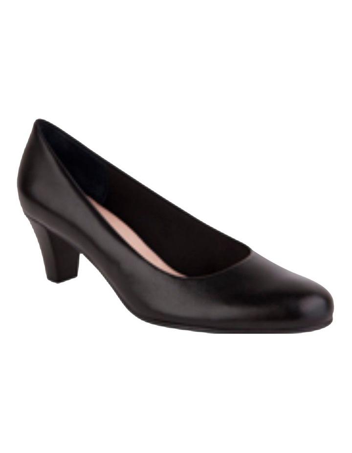 Linda Black Glove Heeled Shoes image 2