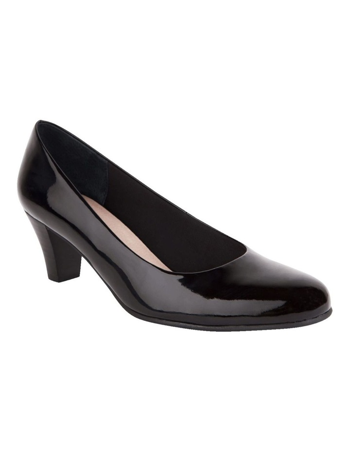 Linda Black Patent Heeled Shoes image 2