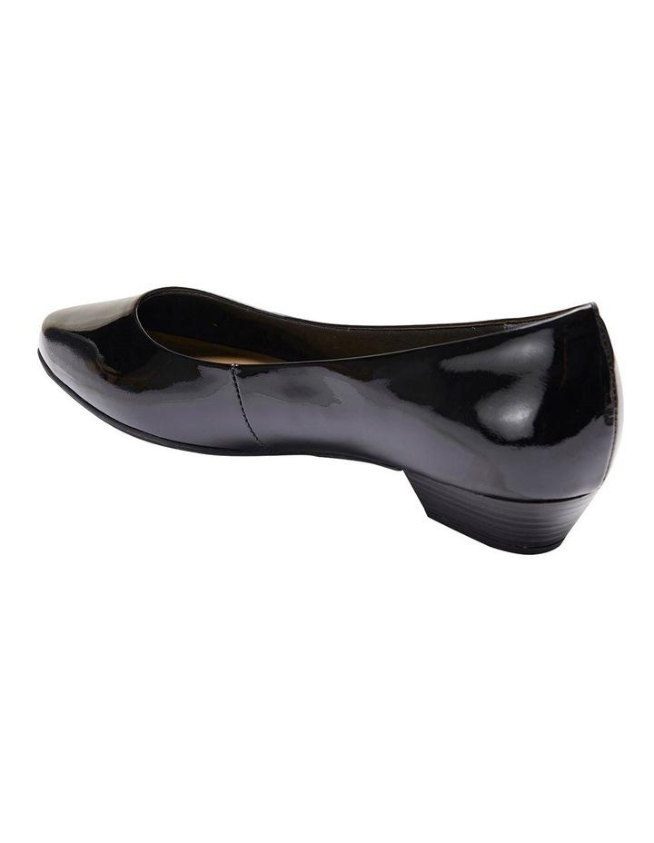 Regal Black Patent Heeled Shoes image 4